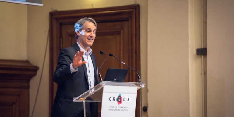 Prof Nick Eyre at CREDS launch, 20 September 2018