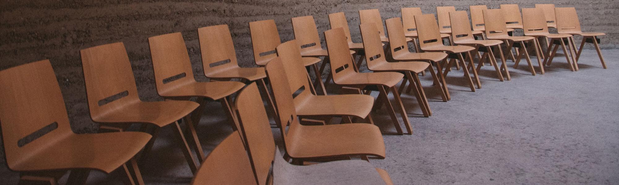 Chairs photo by Daniil Kuželev on Unsplash