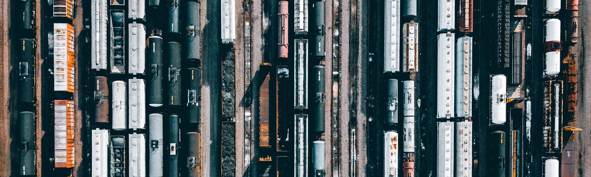 Railways with freight Photo byCampbell BoulangeronUnsplash