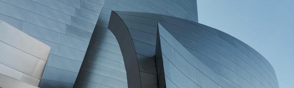 Walt Disney Concert Hall, designed by Frank Gehry